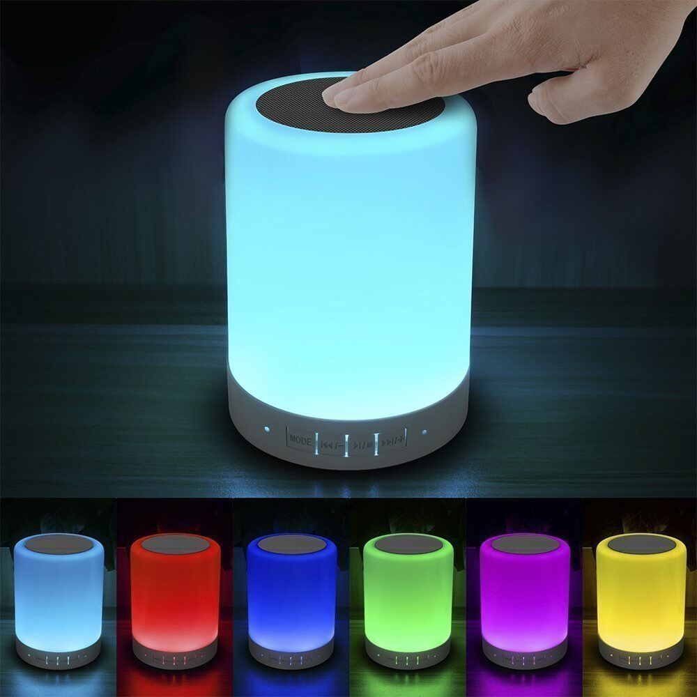 NEW Rainbow Bluetooth Speaker Bedside Lamp Touch Remote ...