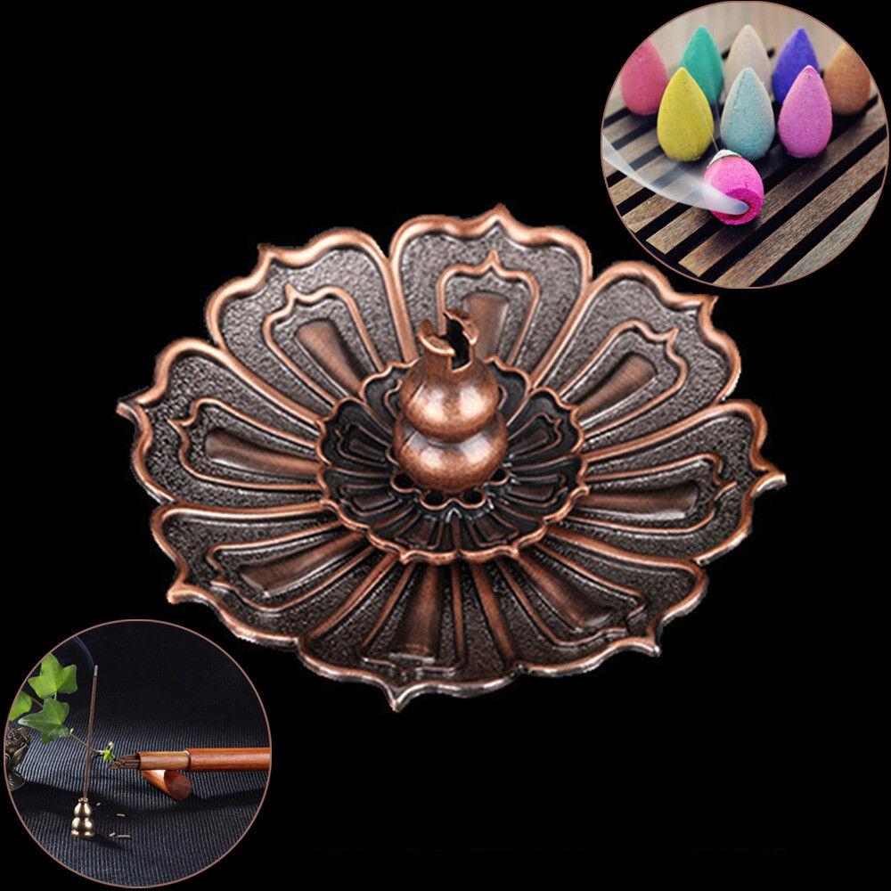 9 Holes Lotus Incense  Flower Statue Censer Plat Burner Holdere For Sticks & Con