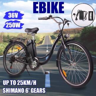 250W 36V Electric Bike,Shimano 6 Gear Bicycle
