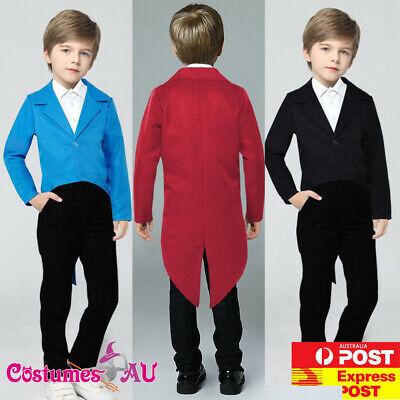Boys Ringmaster Costume (Child Ringmaster Magician Costume Circus Boys Girls Kids Boys Girls Tail)