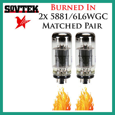 New 2x Sovtek 5881 / 6L6WGC   Matched Pair / Duet / Two Tubes   *Burned In*
