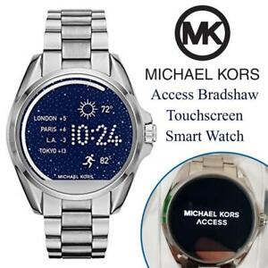 NEW Michael Kors Access Bradshaw Touchscreen Smart Watch Condtion: New open box. Some scuffs on latch. One Size, Silver