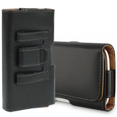 Accessorio Custodia Cover Clip Da Cintura ecopelle nera Per Serie Huawei