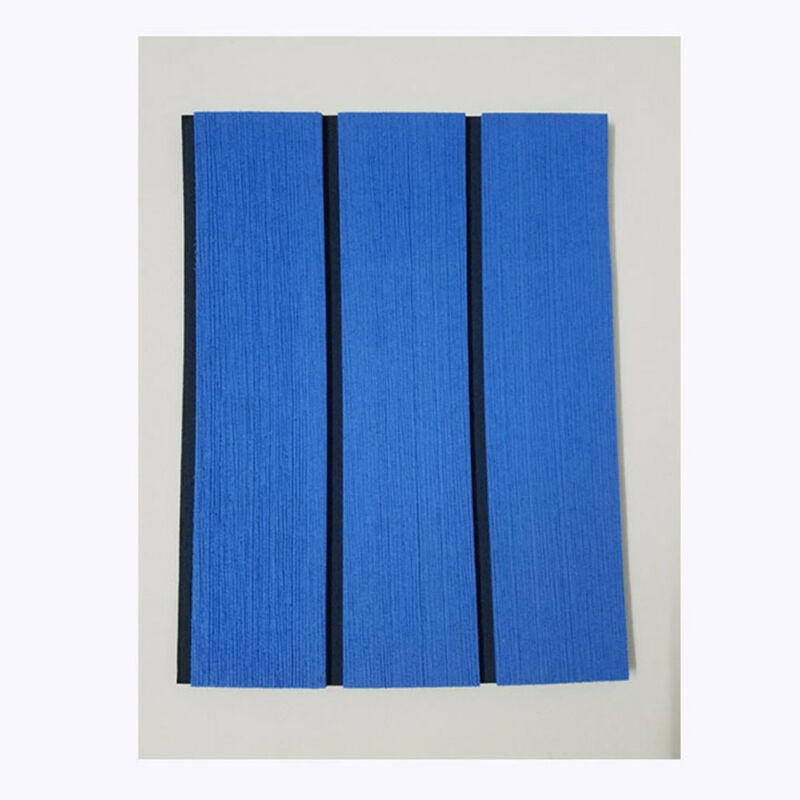 Non-skid Blue EVA Foam Faux Teak Flooring Carpet Yacht Boat Deck Decoration YR