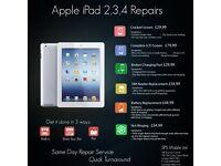 Apple iPad 2/3/4/Mini 1,2,3 /Air Broken Top Glass Digitiser LCD Screen Repair Replacement Service