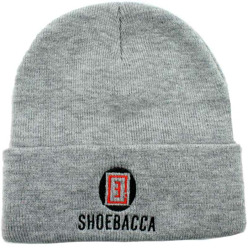 SHOEBACCA 12 Inch Cuffed Knit Cap Mens   Athletic  Beanie  - Grey