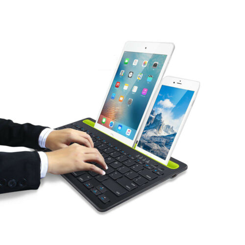 Bluetooth Keyboard Cordless With Phone Tablet Holder Docking Wireless Stand 94276883115 Ebay
