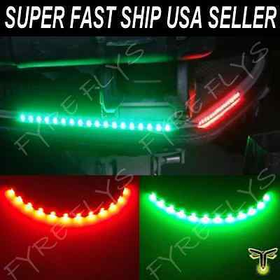 Red & Green LED Lighting Bass Boat Bow Navigation Lights Marine for Triton Nitro