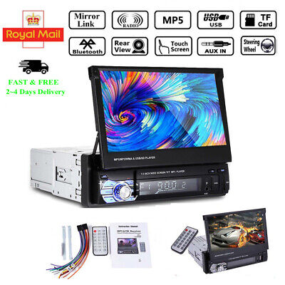 7'' Single Din Car Stereo Radio Bluetooth Touch Screen MP5 Player Mirroring AUX