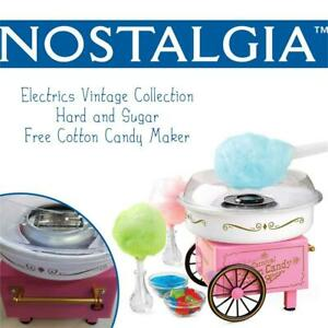 NEW Nostalgia Electrics PCM305 Vintage Collection Hard and Sugar Free Cotton Candy Maker Condtion: New, Blue