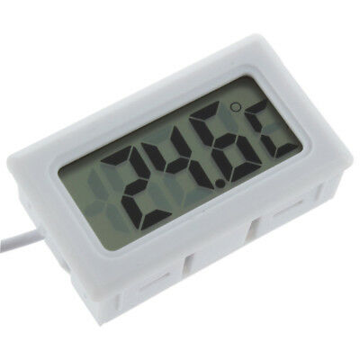 Mini Digital Lcd Gauge Insert Temperature Thermometer Thermograph With Probe