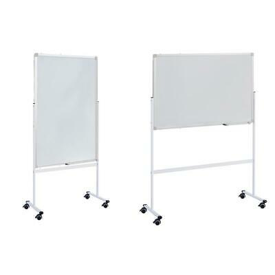 Adjustable 36 Whiteboard Double Magnetic Dry Erase Stand Rolling Reversible New