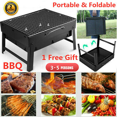 Folding BBQ Charcoal Barbecue Grill Portable Garden Outdoor Camping Picnic Stove
