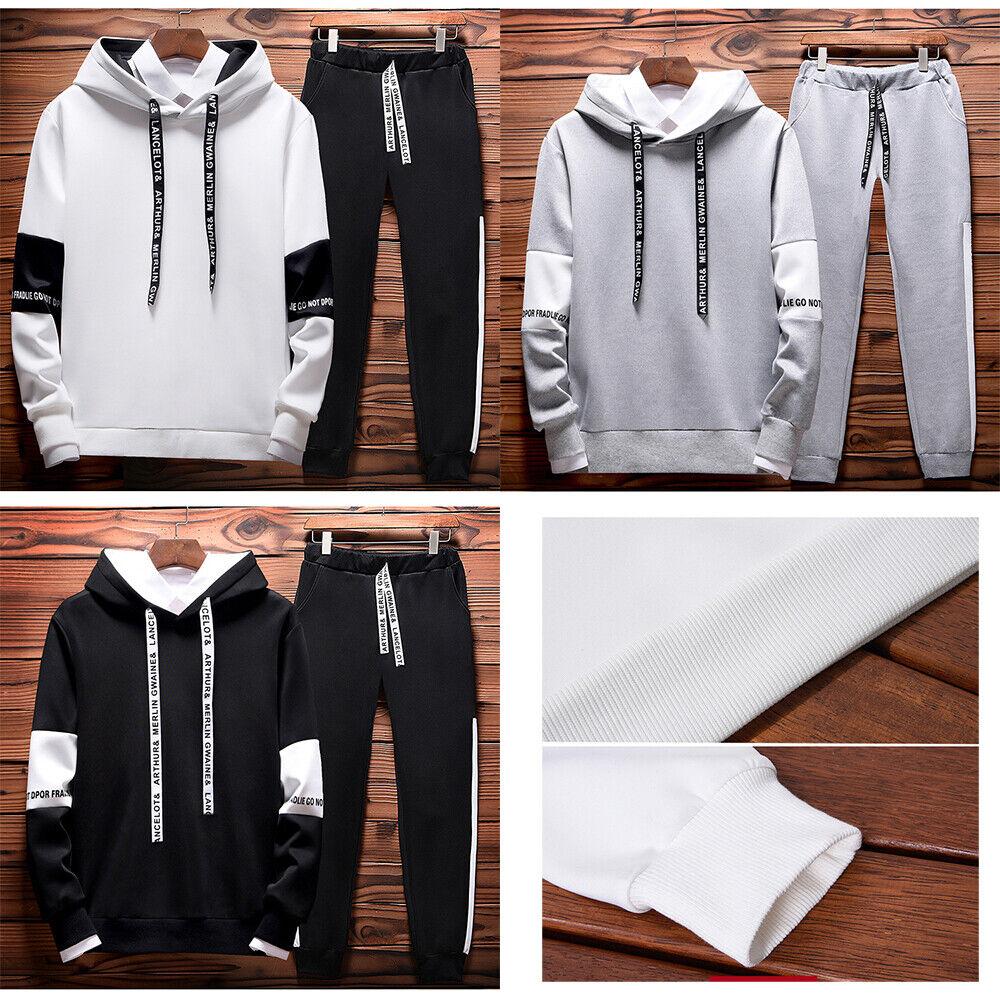 Tracksuit Sport Suit Hoodie Sweater Jogging Sweatshirt Pullover Jacket w/Pant US Activewear