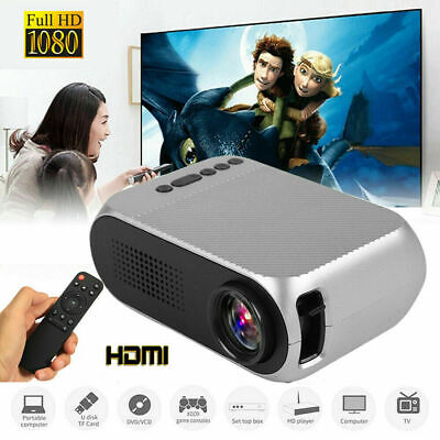 Mini Projector LED 1080P HD Home Theater Cinema HDMI VGA USB LCD Cinema 1000lm