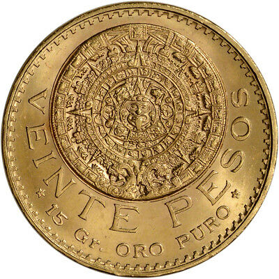 1959 Mexico Gold 20 Pesos (.4823 oz) - BU