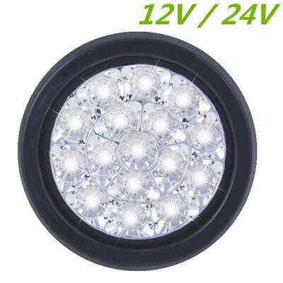 13cm Round LED Rücklampe Rückfahrscheinwerfer Weiß 12/24V Lkw Anhänger Wohnwagen