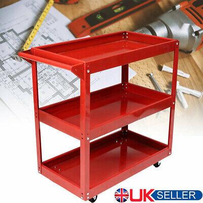 3 Tier Shelf Tool Cart Storage Wheel Cart Trolley Heavy Duty Garage Workshop UK