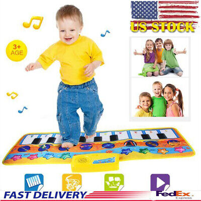 New Play Keyboard Musical Music Singing Gym Carpet Mat Best Gift For Kids Baby