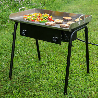 Commercial 32 Double Burner Outdoor Range With 30 Griddle Plate - 150000 Btu