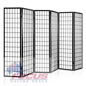 Room Divider 6 Panel - Black or Natural North Melbourne Melbourne City Preview