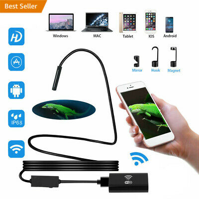 2M/3.5M WiFi Borescope Endoscope Inspection Camera for i Phone Android iOS HT