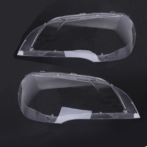 2X Headlight Lens Lamp Cover Lampshade Replacement for BMW X5 E70 07-12 US Stock