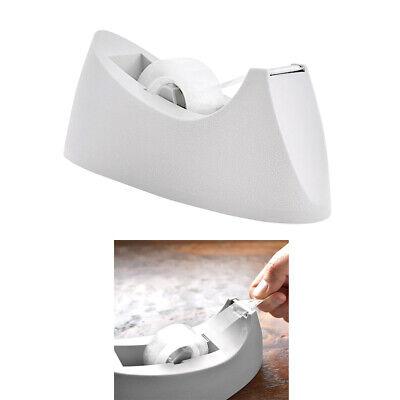 White Desktop Tape Dispenser Bazic Standard Size 1 Core Rolls Desk Office Home