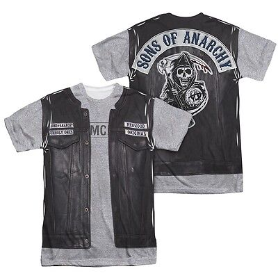 Sons of Anarchy SOA Unholy Costume 2-Sided Sublimation Print Poly T-Shirt S-3XL](Soa Costume)