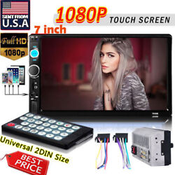 HD 7 Double 2Din Bluetooth Car Stereo Radio FM/MP5 Player Touch Screen In-Dash