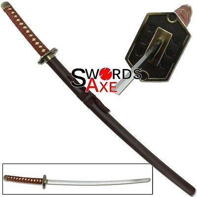 Japanese Anime Bleach Ninja Sword Samurai Katana Carbon Steel Cosplay Replica