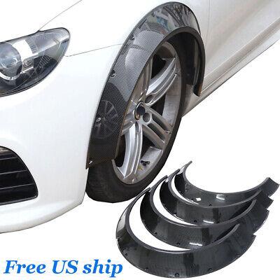 4pcs ABS New School Fender Wheel Arches Flare Extension Carbon Fiber Look 80mm