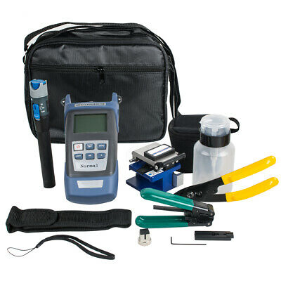 Fiber Optic Ftth Tool Kit Fc-6s Cleaver Power Meter Cable Stripper Fault Locator