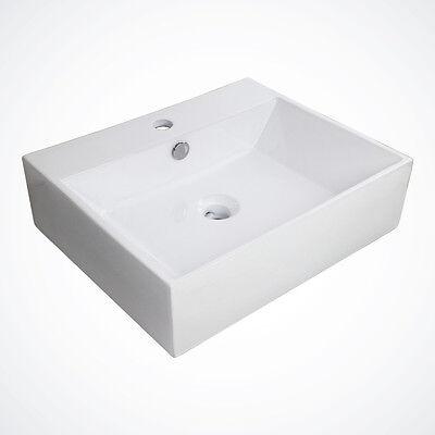 NEW Huge Porcelain Ceramic Ship Fatuity Sink Basin Faucet Bathroom w/ Overflow