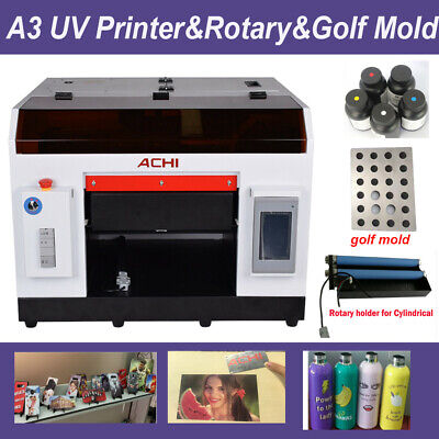 A3 Uv Printerrotary For Bottle Cylindrical Signs 3d Rotation Embossedgolf Mold