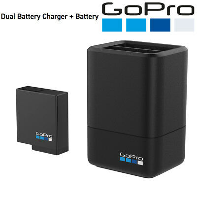Gopro Dual Battery Charger + Battery for GoPro HERO7 Black, HERO6 Black, HERO5