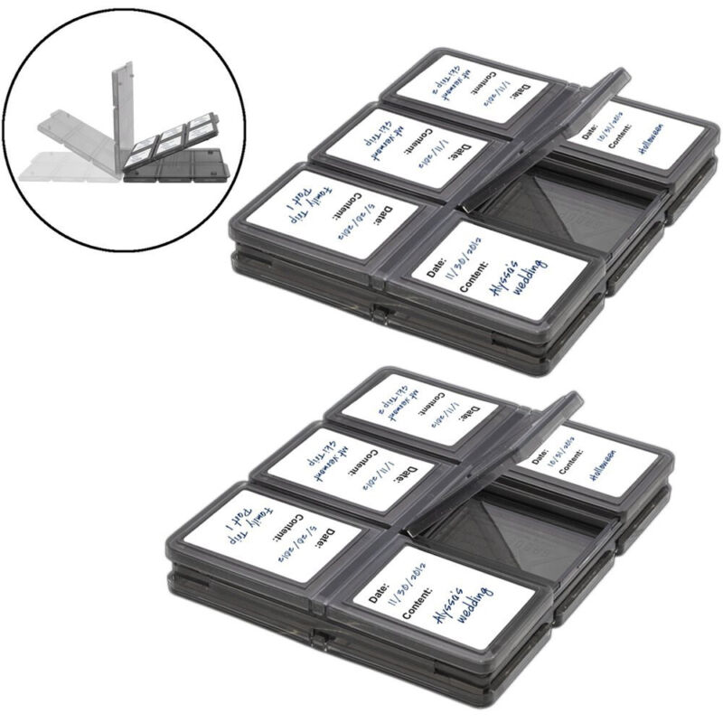 Memory Card Case Holder Storage Fits 12 SD+12 Micro SD TF Cards