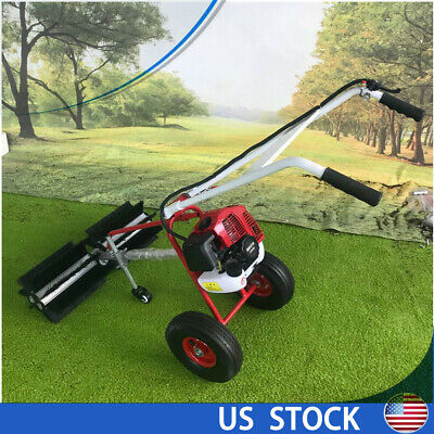 43cc 1.2l Gas Powered Sweeper Broom Handheld Concrete Cleaner Tank Capacity