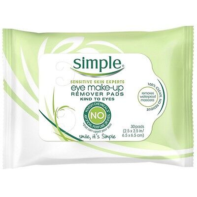 Simple Sensitive Skin Experts Eye Make-up Remover Pads 30...