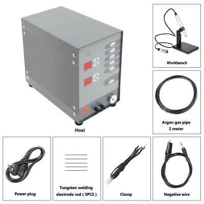 600A Jewelry Spot Welder CNC Pulse Arc Welder with Argon Regulator US Plug
