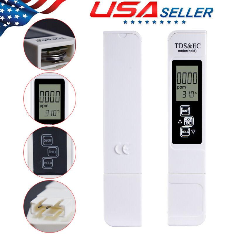 3in1 4 Modes Digital TDS/EC salt Meter Water Tester Purity Filter 0-9999ppm HOT