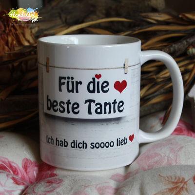 Tasse / Für die beste Tante - Danke für alles / Geschenk Weihnachten