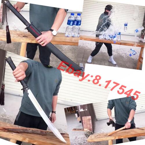 Chinese Saber Jian WuShu Dao Sword Katana Sharp Outdoors KungFu Battle Knife