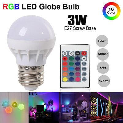 E27 3W RGB Bulb LED Glühbirne Dimmbar 16 Farben ändern Magic Lampe+Fernbedienung Farbe ändern Led Glühbirne
