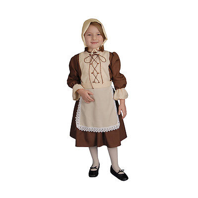 Dress up America Colonial Pretend play Children's Costume For Girls
