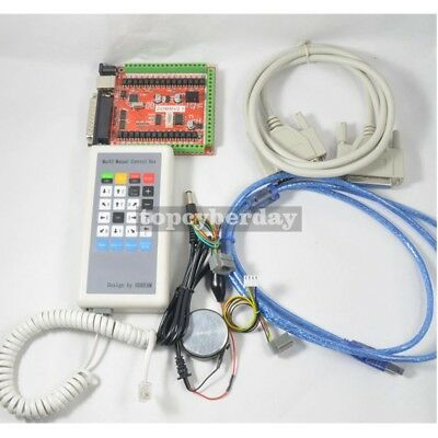 Cnc 6 Axis Usb2.0 Lpt Mach3 Breakout Board Kit W Manual Control Box Handwheel