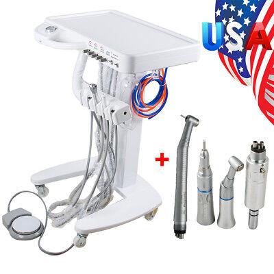 Moveable Dental Delivery Unit Mobile Cart Work Compressor Machine Handpiece Kit