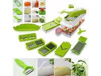 12Pc Super Slicer Vegetable Fruit Nicer Peeler Dicer Cutter Chopper Grate Grater