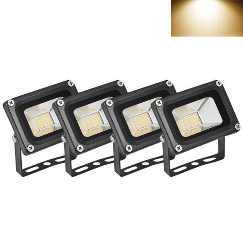 10W 12V LED Fluter Außen Strahler Leuchte Scheinwerfer Flutlicht Warmweiß DHL