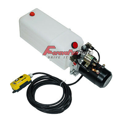 New 8 Quart Reservoir Double Acting Hydraulic Pump 12v Dump Trailer Power Unit